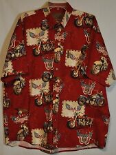 G1189-CLEARWATER OUTFITTERS~Maroon, Motorcycles, Patriotic Flags ~SZ XL~NWOT