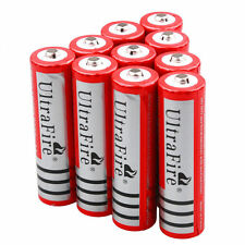 10pc UltraFire 3000mah 3.7V 18650 Rechargeable Li-ion Lithium Battery Batteries