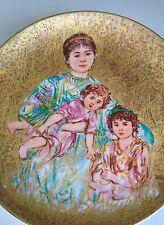 "EDNA HIBEL PLATE Rare Gold Famous Women And Children ""Cornelia & Her Jewels"" G-3"