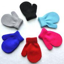Kids Winter Warm Gloves Baby Toddler Boys Girls Soft Solid Knitting Mittens USA
