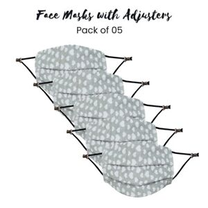 5X Mouth Cover Washable Reusable Breathable With Adjuster Christmas Face Mask
