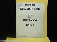 Ancienne partition, kiss me kiss your baby, Brotherhood of man, 1974