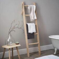 NEW The White Company Solid Oak 5 Step Bathroom Ladder Towel Rail RRP £95 #