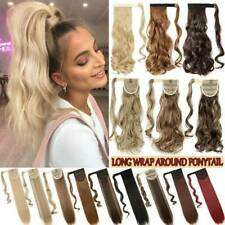 NEW Hair Ponytail Clip In as Real Human Hair Extension Fake Wrap On Pony Tail US