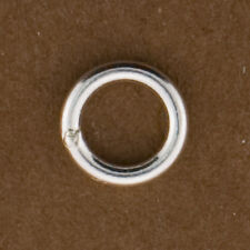 10pc, Sterling Silver 7mm Closed Jump Rings. 18gauge. 1mm Thick Soldered Rings.