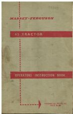 MASSEY FERGUSON 65 TRACTOR ORIGINAL OPERATORS INSTRUCTION & MAINTENANCE MANUAL