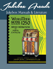Wurlitzer 1250  Service Manual and Parts Catalog with Color cycle of Operation