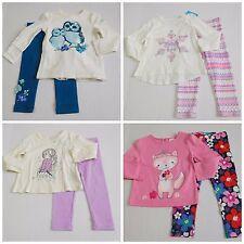 NWT Girls Fall Lot L/S Shirts Leggings Gymboree Place Baby Gap sz 2t