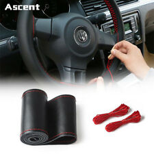 DIY Car Truck Leather Steering Wheel Cover With Needles and Thread Accessories