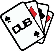 DUB ACES The Ace of Dubs Playing Cards Design For Retro Camper Van car sticker