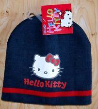 BONNET BLEU  ENTIEREMENT DOUBLE FILLE hello kitty NEUF TAILLE 54