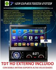 RADIO DVD UNIVERSAL 1 DIN HD  ANDROID 6  GPS  TDT EXTERNO INCLUIDO WIFI BLUE
