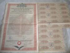 Vintage share certificate Stocks Bonds Caisse Autonome Monopoles Roumania 1931