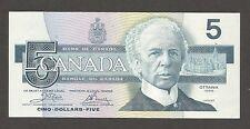 Canada 5 Dollars 1986; AU; P-95; C-BC56a; sign. Crow-Bouey; Kingfisher; ser ENZ