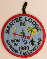 "OA Lodge 116 Santee eR1981-1, Fdl; Spring Fellowship ""1980"" error [D1722]"