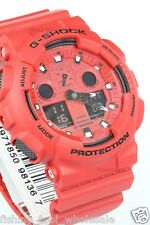 GA-100C-4A Rote Casio Herrenuhr G-Shock Analog Digital Resin Band Packy Neu