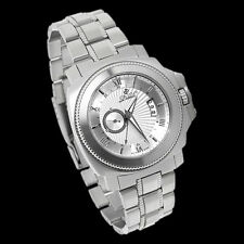 DUBOULE MANCHESTER MENS 23J AUTOMATIC WATCH NEW SILVER DIAL STAINLESS BRACELET