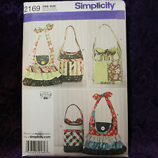 Simplicity 2169 4 Colorful Darling Quilted Bags Pattern New Uncut Factory Folded