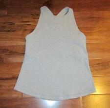 LULULEMON REPOSE TANK IN GRAY SIZE 4 crossover straps