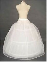 WHITE BRIDAL WEDDING DRESS PROM PETTICOAT UNDERSKIRT CRINOLINE Skirt S-XL