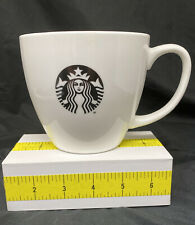 Large Starbucks 2015 Black Logo White Coffee Cup Mug Oversized 20 oz.