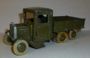BRITAINS VINTAGE LEAD PREWAR #1335 SIX WHEEL SQUARE NOSE LORRY WITH DRIVER 1930s