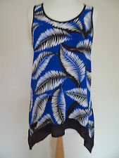 Dorothy Perkins Long Blue Flowy Top Size 10