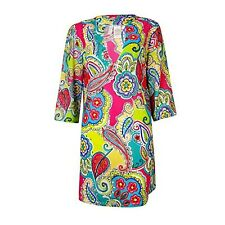 NWT Anne Cole Floral Paisley Mesh Swimsuit Cover Up L/XL