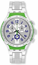 Swatch YYS4012AG Irony Xlite Grey Dial Aluminum Chronograph Men's Watch