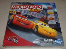 NEW IN BOX DISNEY PIXAR CARS MONOPOLY JUNIOR GAME NIB SEALED HASBRO AGES 5+ 2015