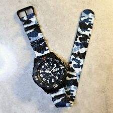 Casio Dive Watch with Blue Ice Camo Nato Strap, The Ice Diver II, MRW-200H-1BVES