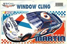 NASCAR WINCRAFT STICKER MARK MARTIN #6 WINDOW CLING  DECAL FROM 1999 VALVOLINE