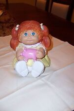 Cabbabge Patch Red Haired Doll Bank Vinyl Holding Pink Piggy 1983 Appalachian