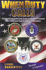 WHEN DUTY CALLS: Guide to Personnel / Family for Military Separations PB 2003