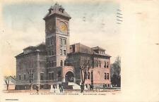 Lane County Court House, Eugene, Oregon Hand-Colored Vintage Postcard 1910