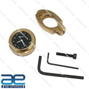 For Royal Enfield Black Dial Brass Handle Watch With Clamp S2u