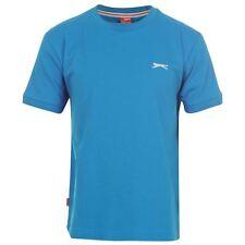 T-shirt enfant NEUF bleu marque SLAZENGER Taille 7-8 ans - SPORT, ECOLE, MODE