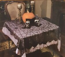 Lace Web Table Cloth Cover 2mx1m Halloween Fancy Party Lacey Cobweb Spiders Webs