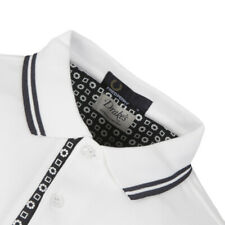 Fred Perry Drake's White Medallion Trim Polo T-Shirt Top Size XS