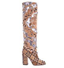 Women's Multi-Coloured Knee High Block Boots