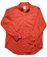 Brooks Brothers 346 Red Long Sleeve Button Down 100% Cotton Shirt Sz Mens L