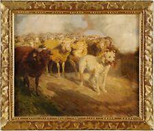 Künstlerische Malerei von 1900-1949 auf Leinwand mit Landschafts- & Stadt-Motiv