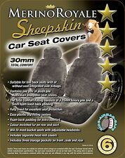 Sheepskin( Lambswool) Car Seat Covers 30mm , Seat Air bag Compatable, 5 Colours