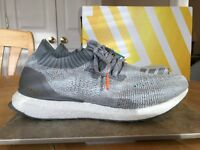 2f365a035 ADIDAS ULTRA BOOST UNCAGED BB4489 SIZE 8.5 MEN S SHOES GREY AND WHITE  RUNNING