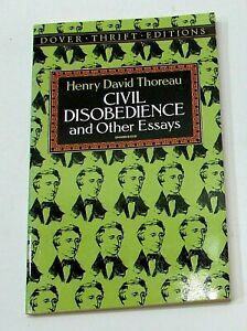 1993 Civil Disobedience and Other Essays by Henry David Thoreau Dover pb FREE SH