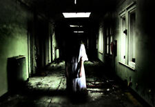Framed Print - A Woman in the Corridors of an Insane Asylum (Horror Picture Art)