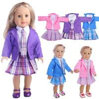 18 Inch Doll Clothes Skirt Blouse Blazer Tie Made To Fit American Girl Dolls