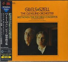 Japan 3 SACD/CD Hybrid Set BEETHOVEN The Five Piano Concertos Gilels Szell NEW !