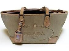 Prada Milano Ladie's Canvas Carry Purse Handbag Made In Italy