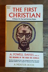 The First Christian, A. Powell Davies, (1959), 1st printing, Mentor, PB